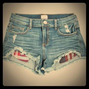 Sneak peek jean shorts